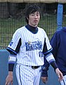 20120401 Masasi Nisimori, catcher of the Yokohama BayStars, at Yokosuka Stadium.JPG