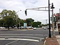 2014-08-30 11 12 19 Old green traffic signal at the intersection of North Broad Street (U.S. Route 206 northbound) and Perry Street in Trenton, New Jersey.JPG