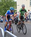 2014 Tour of Britain stage 5 riders 44 Lasse Hansen and 175 Glenn O'Shea.JPG