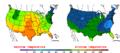2015-10-20 Color Max-min Temperature Map NOAA.png