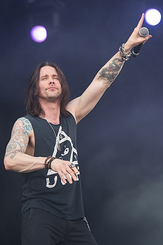 Myles Kennedy - Kennedy performing with Slash and his backing band