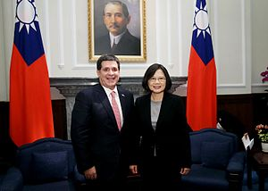 Tsai Ing-wen - President Tsai and Paraguay's President Horacio Cartes in Taiwan, 20 May 2016