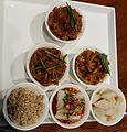 2016-12-15 Tianshui specialities at a restaurant in Tianshui, Gansu anagoria.jpg