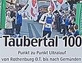 2018-10-06 Ultramarathon Taubertal 100 auf dem Taubertalradweg 10 Logo mittel.jpg