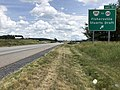 2019-06-06 14 06 33 View east along Interstate 64 at Exit 91 (Virginia State Route 285, TO Virginia State Route 608, Fishersville, Stuarts Draft) in Fishersville, Augusta County, Virginia.jpg