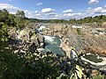 2019-09-07 15 10 25 View north towards the Great Falls of the Potomac River from Overlook 1 about 100 feet downstream of the falls within Great Falls Park in Great Falls, Fairfax County, Virginia.jpg