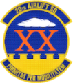20th Airlift Squadron - AMC - Emblem.png