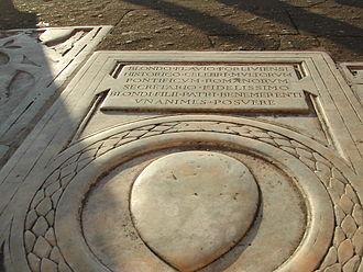 Flavio Biondo - Flavio Biondo's gravestone in Santa Maria in Aracoeli, Rome