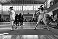 2nd Leonidas Pirgos Fencing Tournament. Mixed feelings for the fencers Pari Filippousi and Nefeli Rodopoulou.jpg