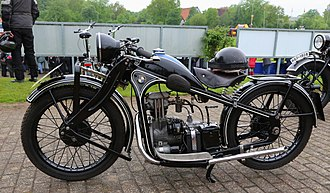 History of BMW motorcycles - BMW R2, a 200cc single-cylinder BMW motorcycle. The first single-cylinder BMW was the 1925 R39.