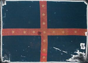 43rd Indiana Infantry Regiment - The flag of the 37th Arkansas Infantry Regiment, captured at the Battle of Helena