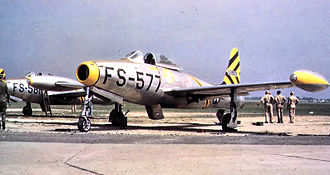 37th Flying Training Squadron - 37th FS F-84B 45-59577, about 1948 at Dow AFB, Maine