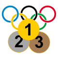 3 olympic medal icon.svg
