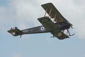 RAF Digby - AVRO 504 type that flew from the station