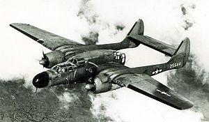 549th Combat Training Squadron - 549th NFS Northrop P-61A-5-NO Black Widow 42-5544