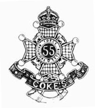 55th Coke's Rifles (Frontier Force) - Image: 55 Cokes Rifles 7 FF