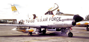5th Fighter-Interceptor Squadron North American F-86D-45-NA Sabre 52-4159 1955.jpg