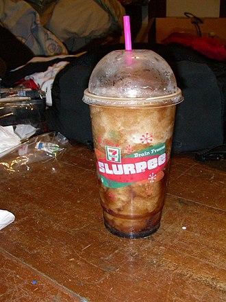 """Slurpee - A Coca-Cola """"Brain Freeze"""" Slurpee."""