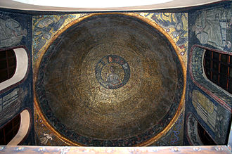 Basilica of Sant'Ambrogio - Ceiling of the Oratory of San Vittore in Ciel d'Oro.