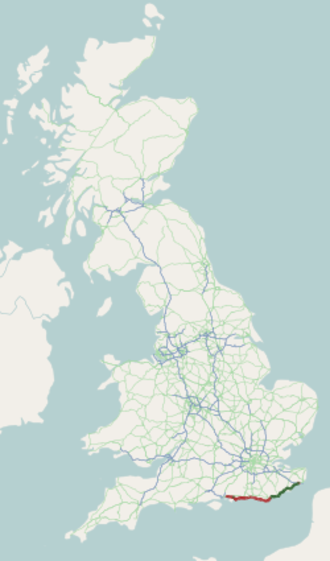 A259 road - Image: A259 road map