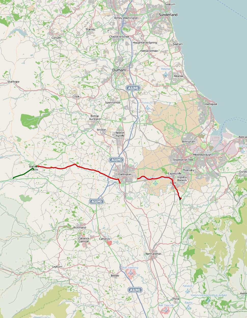 A67 road map