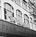 AAP bezet leeg gebouw Holtkamp aan Vijzelstraat Amsterdam bezet gebouw met span, Bestanddeelnr 927-1528.jpg