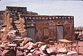 ASC Leiden - W.E.A. van Beek Collection - Dogon tourism 09 - A hotel in Banani, painted for the tourists, Banani, Mali 1990.jpg