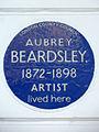 AUBREY BEARDSLEY. 1872-1898 ARTIST lived here.jpg