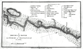 Battle of the Chateauguay - A Sketch of the battle of the Chateauguay
