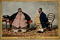A humorous comparison between the obese Daniel Lambert and C Wellcome V0007163.jpg