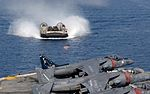 A landing craft transits toward the well deck of USS Boxer. (26864706921).jpg