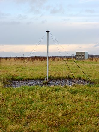 LOFAR - Low-band antenna with electronics cabin in the background
