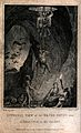 A silver mine and miners descending. Etching by T. Wallis, 1 Wellcome V0023532.jpg