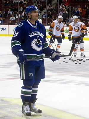 Vancouver Canucks defenceman Aaron Rome during...