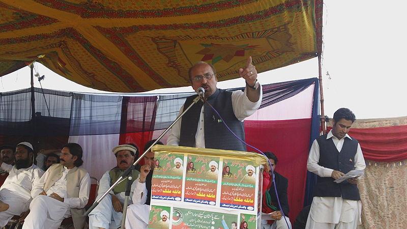 Abdul Quayyum Khan Kundi speaking at a Shorkot Jalsa.JPG