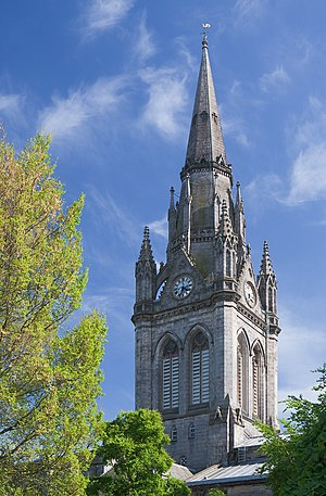 Kirk of St Nicholas - Tower with gothic elements