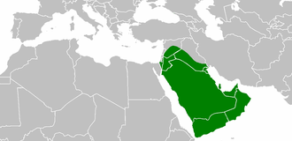 Rashidun Caliphate during the reign of Abu Bakr. Abubakr'sreign.png