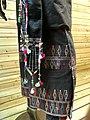 Achang woman brocade dress detail - Yunnan Nationalities Museum - DSC04293.JPG