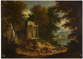 Adriaen Frans Boudewijns - Landscape with ruins
