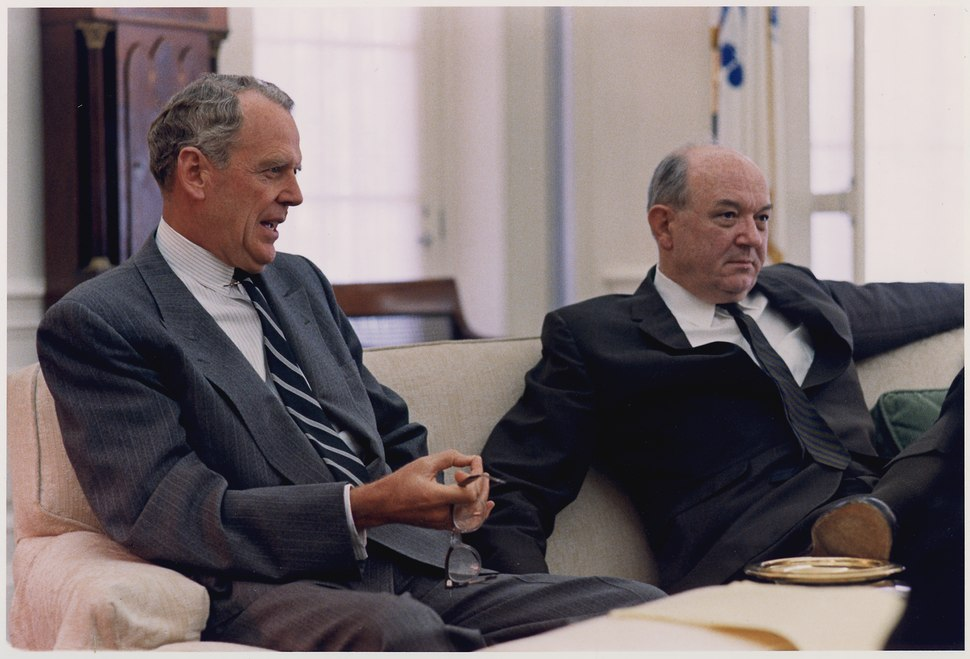 Advisors, Secretary of Defense Clark Clifford and Secretary of State Dean Rusk - NARA - 192534