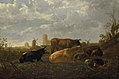 Aelbert Cuyp - A Distant View of Dordrecht, with a Sleeping Herdsman and Five Cows ('The Small Dort') NG NG NG962.jpg
