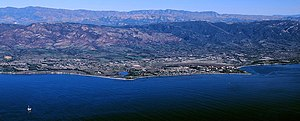 Goleta, California - Aerial photo of the Goleta area from offshore.