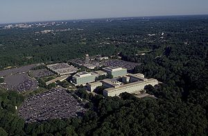 George Bush Center for Intelligence - Image: Aerial view of CIA headquarters, Langley, Virginia 14762v