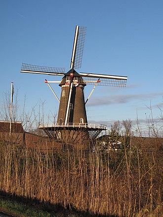 Afferden, Gelderland - Windmill De Drie Waaien.
