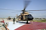 Afghan Mi-17 helicopters wait to get fuel at Forward Operating Base Fenty in 2011.jpg