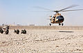 Afghan National Army soldiers with the 215th Corps provide security at a landing zone for an Mi-17 helicopter during a training exercise at Camp Shorabak, Helmand province, Afghanistan, Feb. 19, 2014 140219-M-PF875-014.jpg