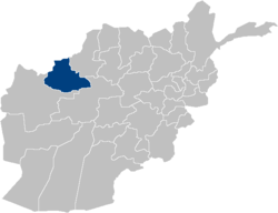 Location within Afghanistan