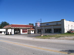 Afton, Oklahoma - Afton Station, now a Packard museum and visitors centre.