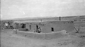 Agua Fria, New Mexico - House in Agua Fria, circa 1900
