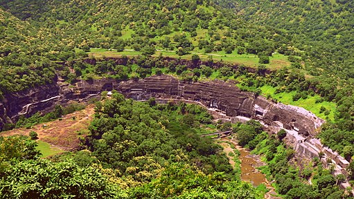 Ajanta Caves as seen from the view-point